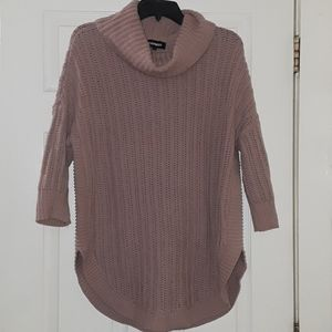 Express Cowlneck knitted pink sweater